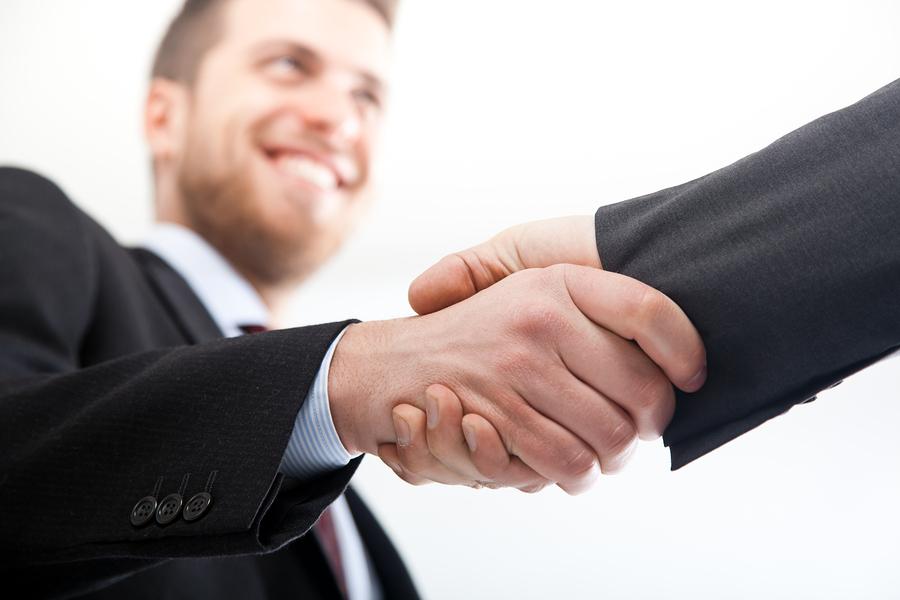 Large large handshake