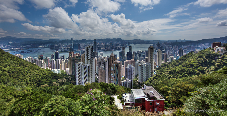 Large large panorama hongkong peak