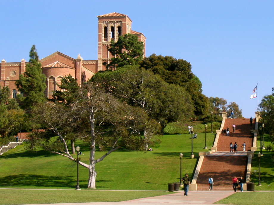 Large janss steps  royce hall in background  ucla