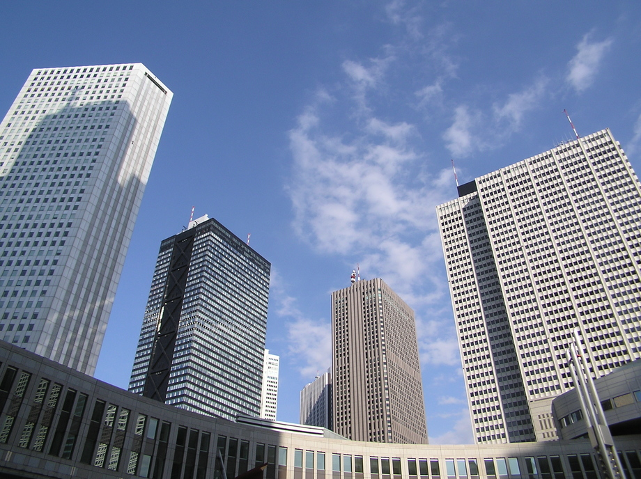 Large skyscrapers of shinjuku 2 7 desember 2003