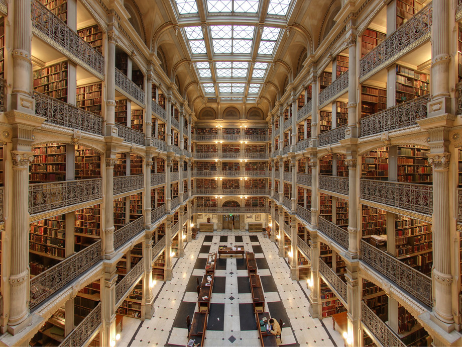 Large george peabody library