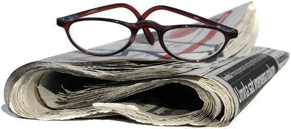 Large newspaper glasses