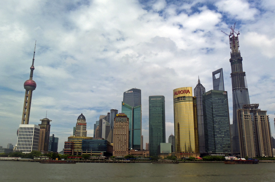 Large pudong skyline august 2013