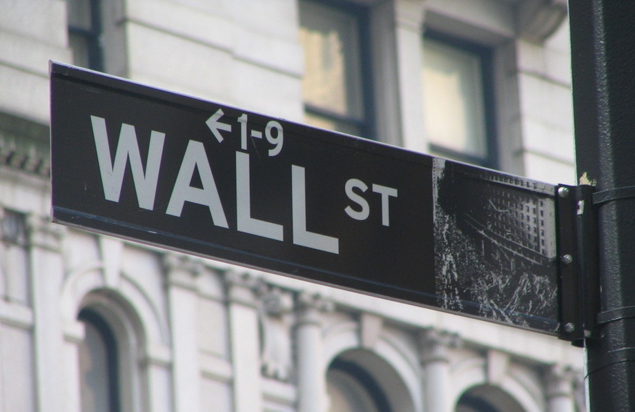 Large wall street sign