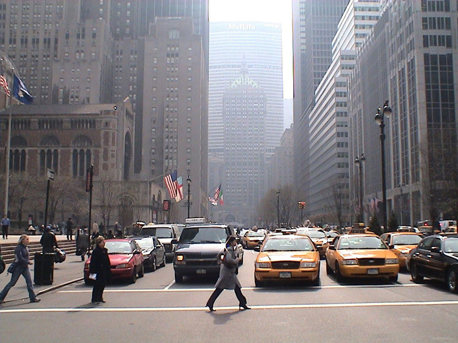 Large new york park avenue
